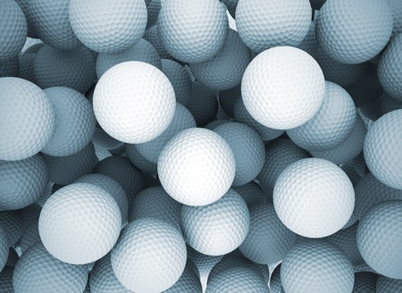 golf ball: Golf balls abstract Stock Photo