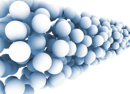 Golf balls background Stock Photo - 9900179