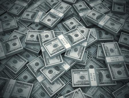 argent: La lumi�re Center dans un gros tas d'argent