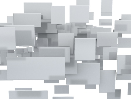 Squares background 3d  photo