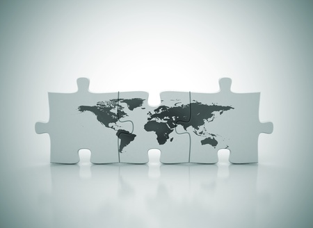 jigsaws: Mappa del mondo su puzzle