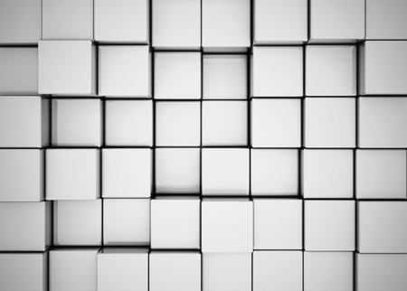 Abstract metal cube background  Stock Photo - 10051685