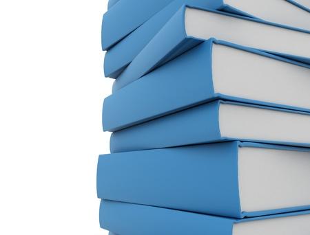 Blue books close up isolated on white Stock Photo - 10051693