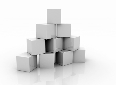 toy block: Building blocks blank on white background  Stock Photo