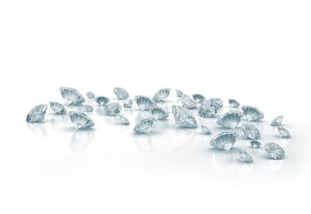 Diamonds op een witte achtergrond Stockfoto