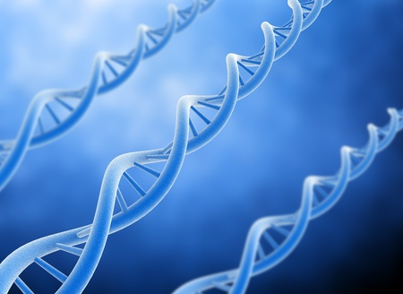 biochemistry: Dna 3d background high resolution Stock Photo