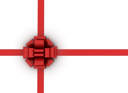 Red gift ribbon Stock Photo - 10051659
