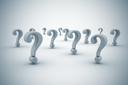 frequently asked question: Question mark background  with dof  Stock Photo