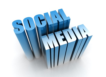 Social media 3d render  Stock Photo - 10051676