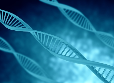 raytrace: dna model illustration blue color