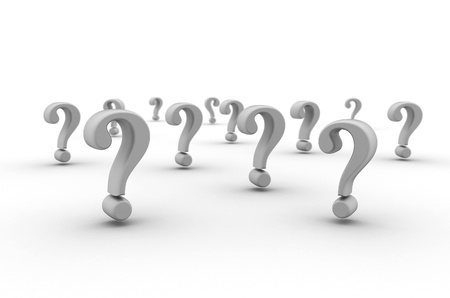 3d image: Question mark background  Stock Photo