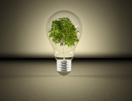 Lightbulb green energy  photo