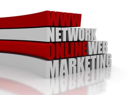 Online marketing related words photo