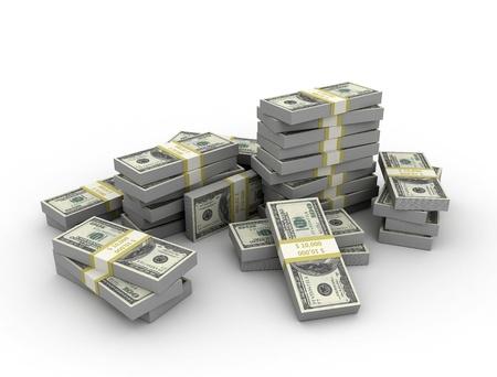 apilar: Fondo de dinero Foto de archivo
