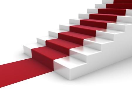 escalera: Escaleras y alfombra roja