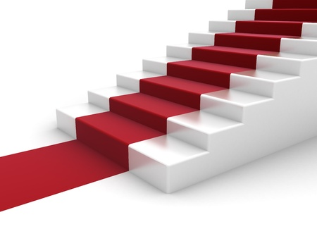 steps to success: Stairs and red carpet
