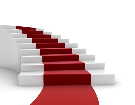 schody: Schody i czerwony dywan Zdjęcie Seryjne