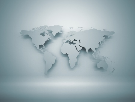 south east asia: World map 3D