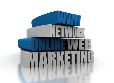 Online marketing illustration Stock Illustration - 10567080