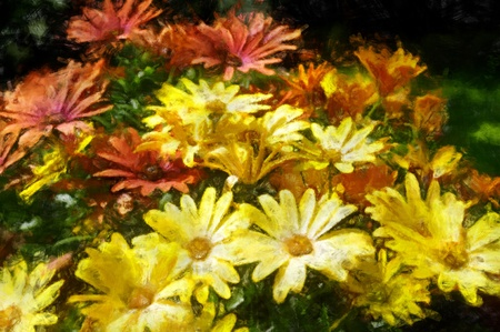 watercolor painting of flowers photo