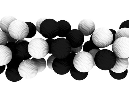 golfing: Golf balls