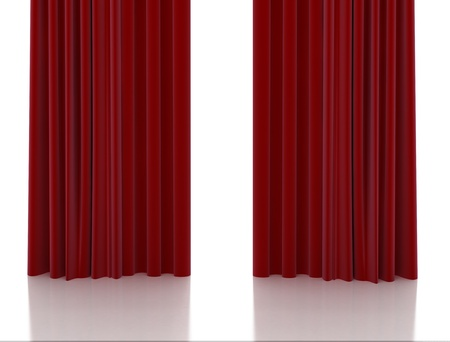 draped: Red curtain