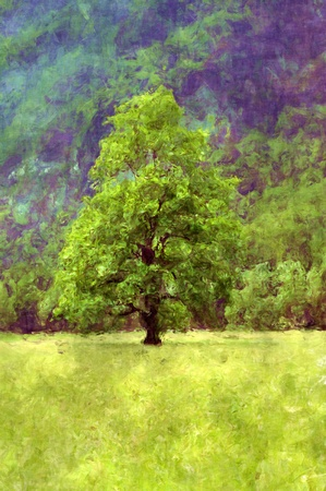 Single tree - Painting