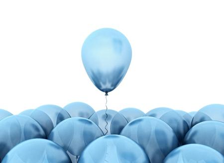 Blaue Luftballons Standard-Bild