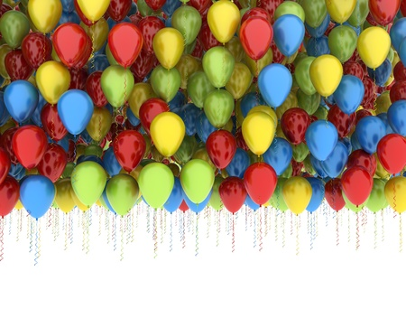 lots: Many balloons multi color