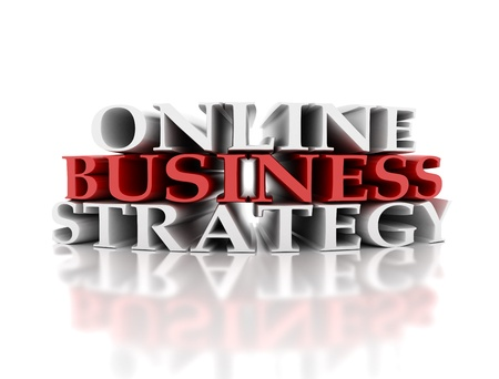 company people: Online business strategy Stock Photo