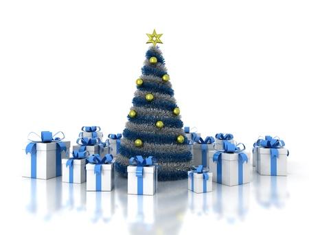 Christmas tree and presents  photo