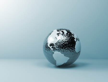 Metal world globe  photo