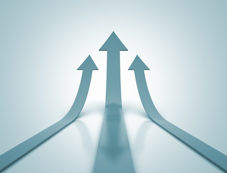 Arrows going up - Business success photo