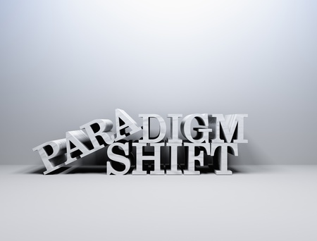 shift: Paradign shift a change of business  Stock Photo