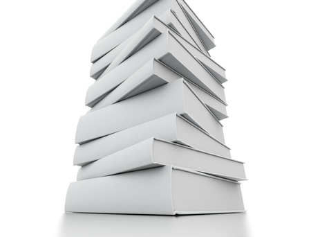 stacked books: Blank books stacked