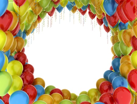 Balloons celebration background