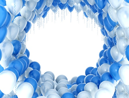 float fun: Baloons blue and white  Stock Photo