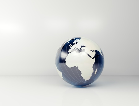 World globe 3d  Stock Photo - 11324631