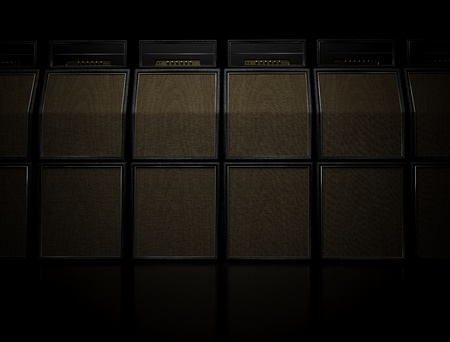 amps: Wall of guitar amps