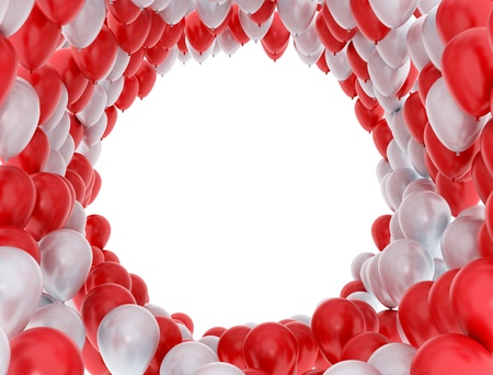 Balloons celebration background photo