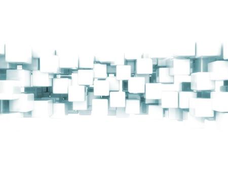 Résumé 3d cubes Banque d'images - 11746158
