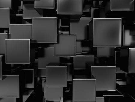 Black metal cubes