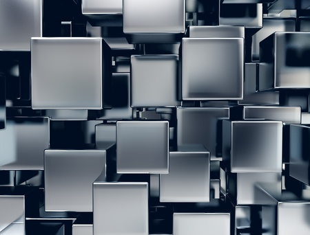 abstract image of metal cubes background  Stockfoto