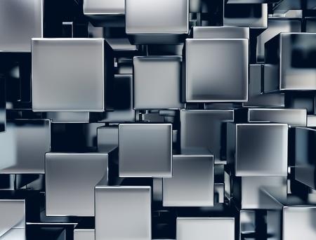 imagen abstracta de cubos de metal de fondo photo