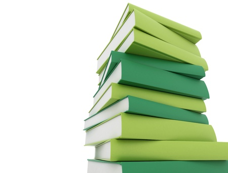 law library: Stack of green books