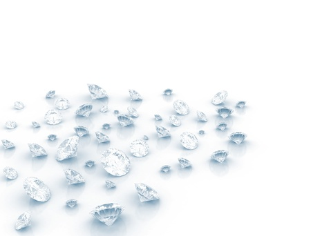 diamond background: Group of diamonds