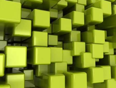Abstract metal cube background photo