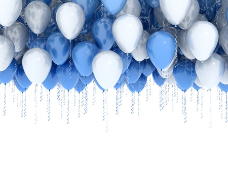 Balloons isolated on white  photo