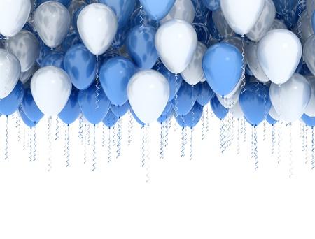 Luftballons isoliert auf weiß