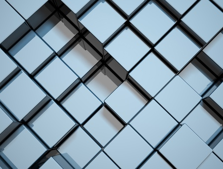 structure metal: abstract cube background